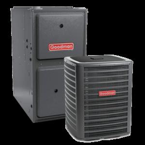 Goodman GMEC96 Two-Stage Gas Furnace + GSX 13 Goodman Air Conditioner