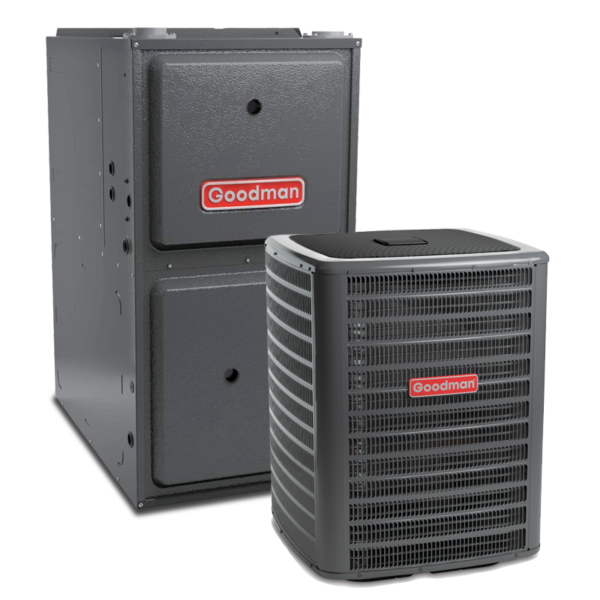 Goodman GMEC96 Two-Stage Gas Furnace + GSX 13 Goodman Air Conditioner