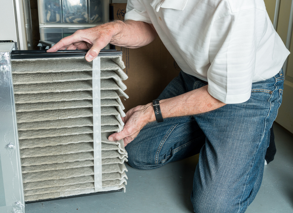 1ClickHeat - spring cleaning, replacing dirty air filter