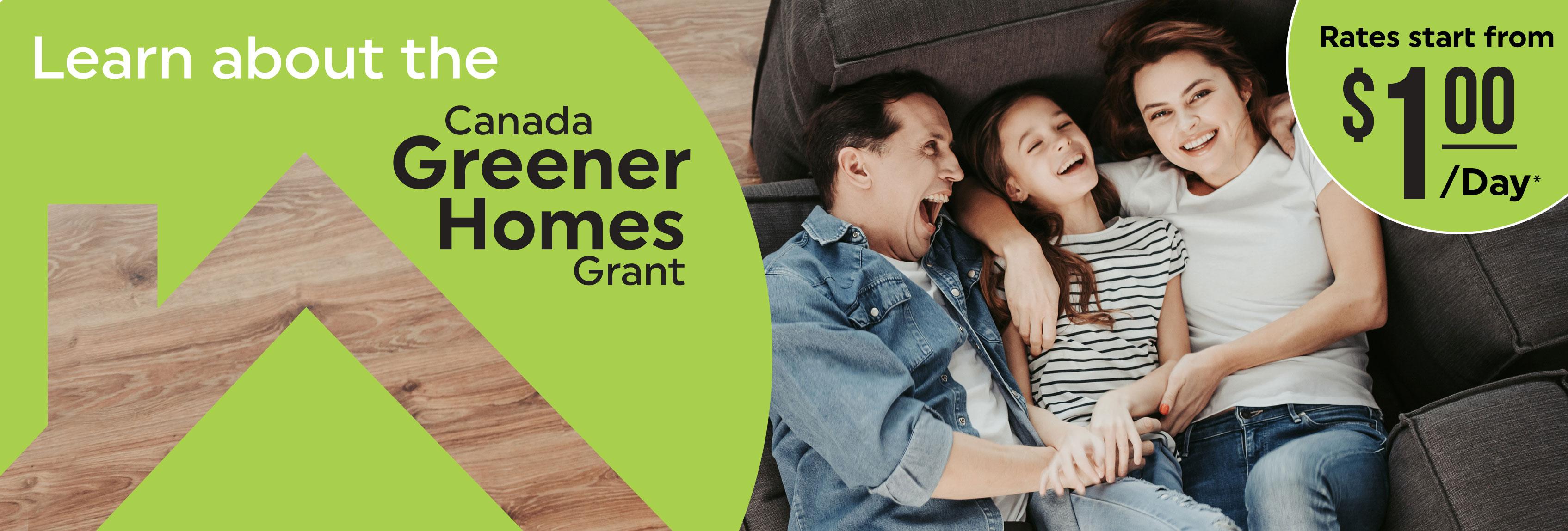 1Click Canada Greener Homes Grant Banner 1