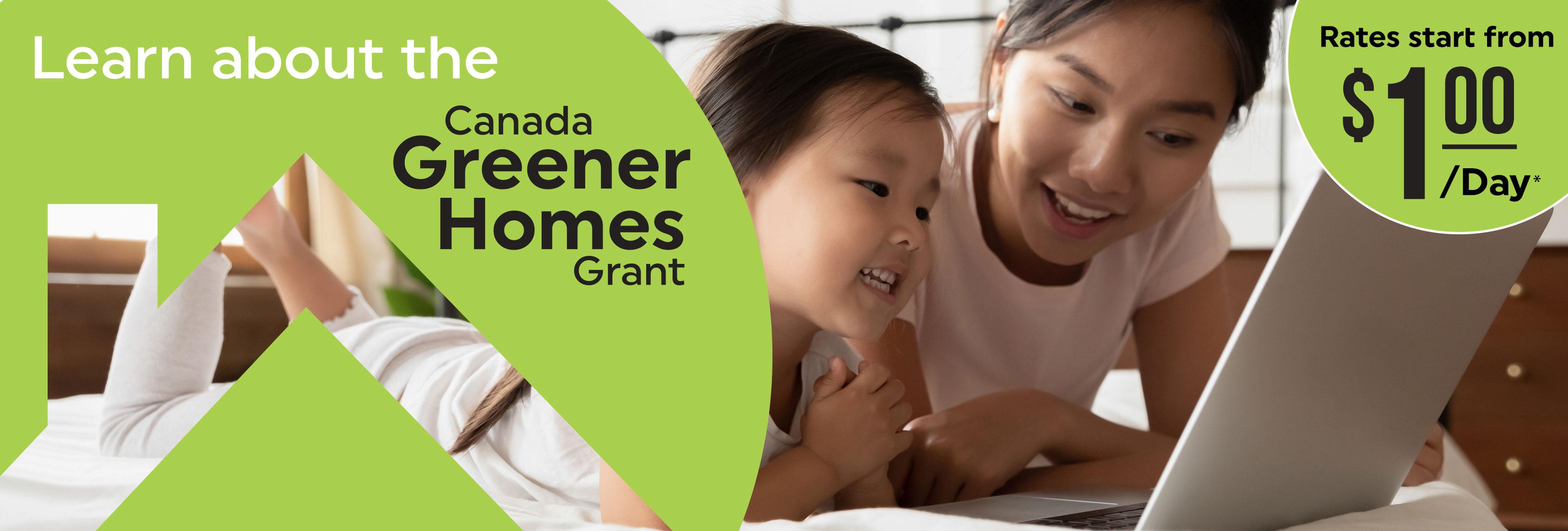1Click Canada Greener Homes Grant Banner 2