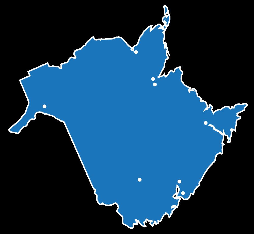 New Brunswick Service Map
