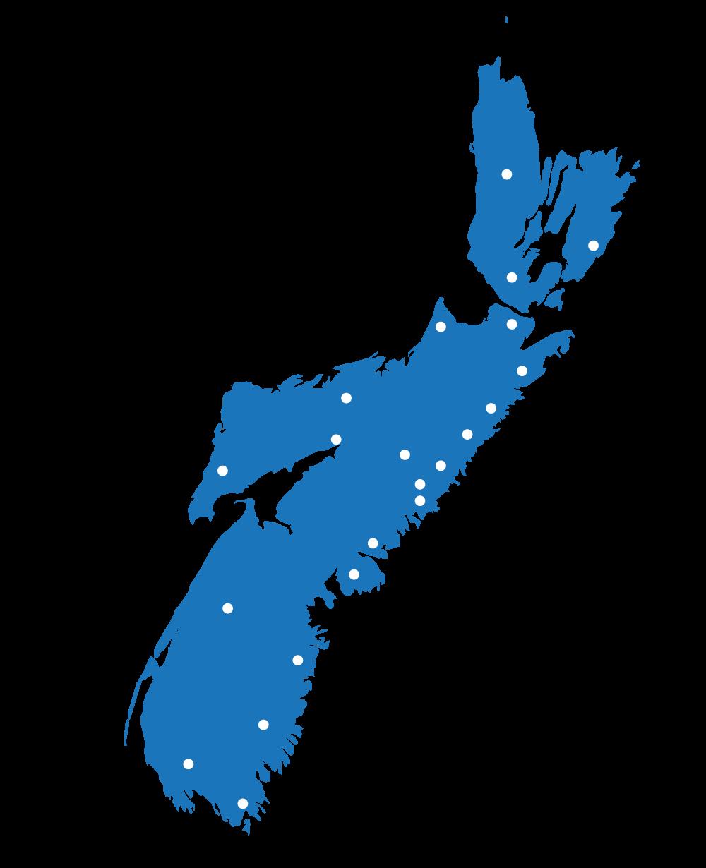 Nova Scotia Service Map
