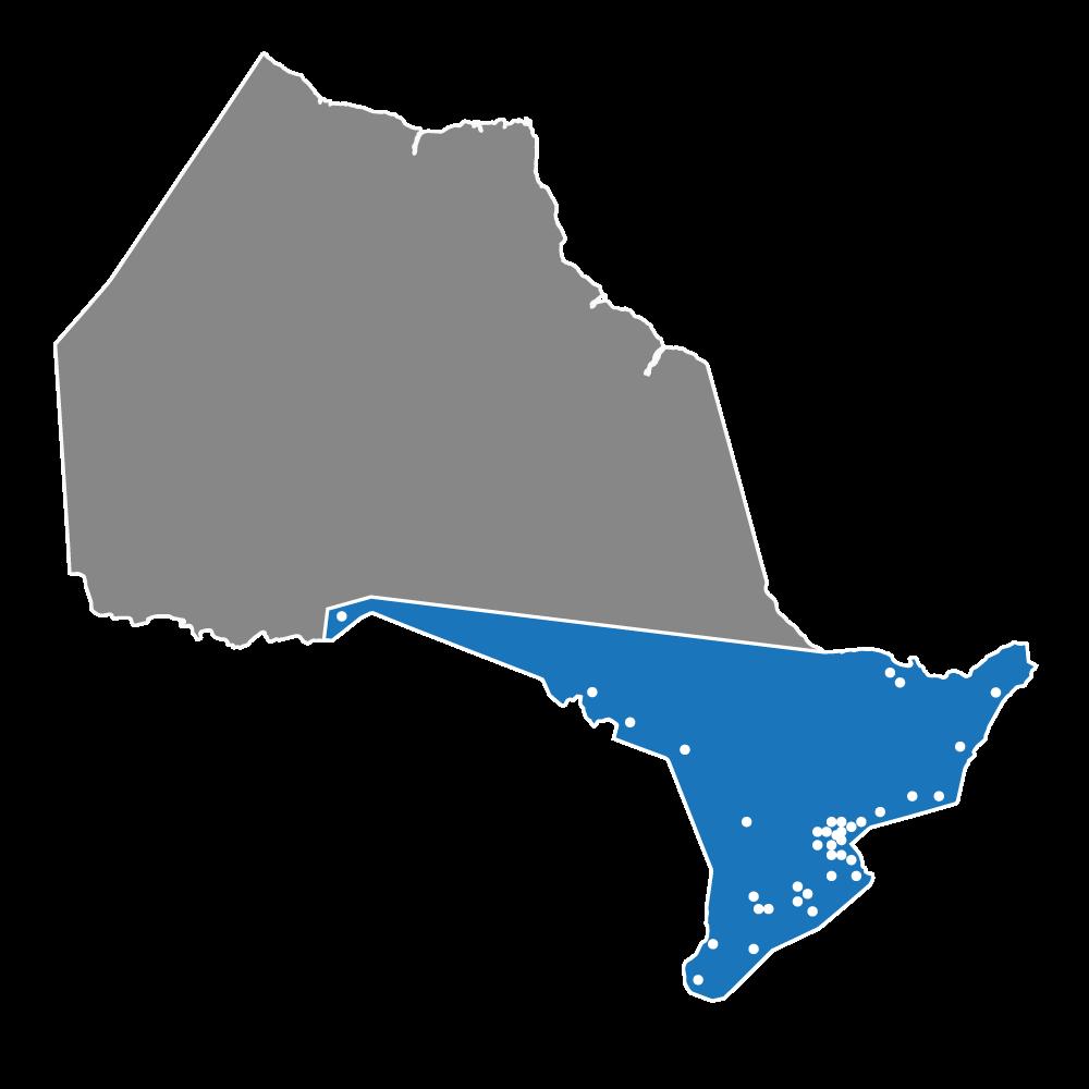 Ontario Service Map